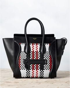 Celine Woven Checkered Mini Luggage Bag - Winter 2013
