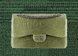 Chanel Alligator Classic Flap Jumbo Bag
