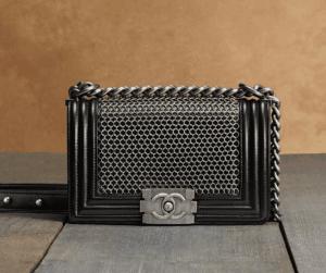 Chanel Black Boy Chain Mail Small Bag