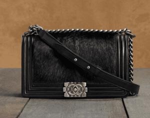 Chanel Black Boy Chanel Celtic with Goat Skin/Hair Medium Bag