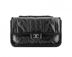 Chanel Black Sheep and Wool Chic Knit Small Bag