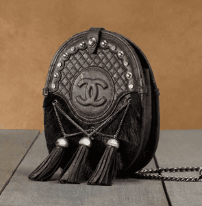 Chanel Brown Pony Calfskin with Tassels Satchel Small Bag