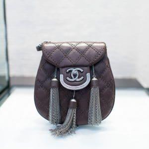 Chanel Burgundy Coco Sporran Small Bag