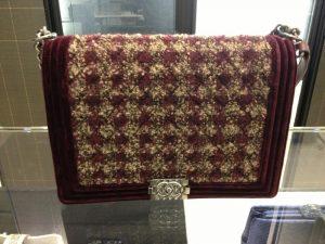 Chanel Burgundy Boy Chanel Tweed Large Bag