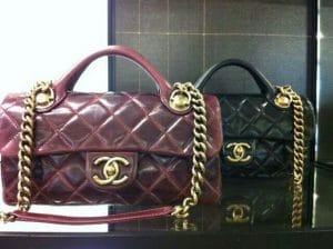 Chanel Burgundy/Black Castle Rock Bag