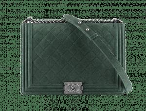 Chanel Green Sueded Bull Boy Flap Bag