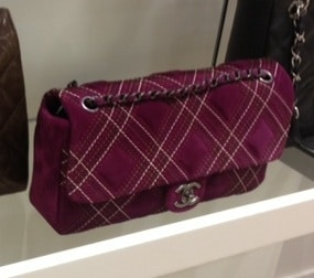 Chanel Purple Saltire Bag