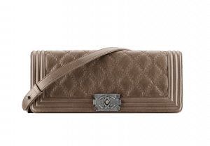 Chanel Taupe Boy Chanel Exotic Clutch Bag