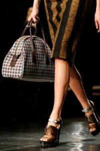 Prada Blue and Red Bowler Bag - Fall 2013