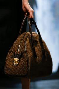 Prada Brown Tweed Bowler Bag - Fall 2013