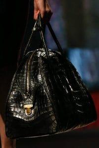 Prada Black Croc Bowler Bag - Fall 2013