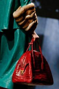 Prada Red Croc Bowler Bag - Fall 2013