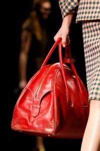 Prada Red Bowler Bag - Fall 2013