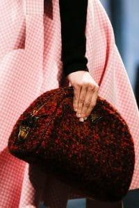 Prada Red Tweed Clutch Bag - Fall 2013