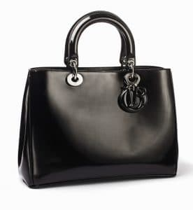 Dior Black Patent Diorissimo Bag