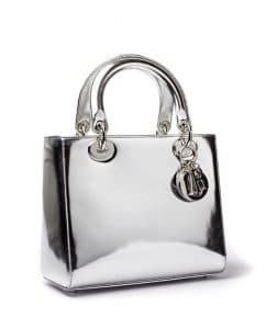 Dior Silver Lady Dior Bag