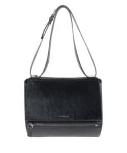 Givenchy Black Calf Hair Pandora Box Mini Bag