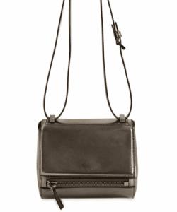 Givenchy Gun Metal Laminated Pandora Box Mini Bag