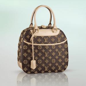 Louis Vuitton Beige Monogram Canvas Tuffetage Deauville Bag