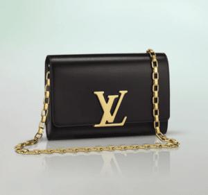 Louis Vuitton Black Chain Louise Bag