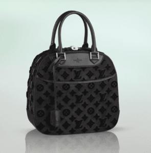 Louis Vuitton Black Suede Tuffetage Deauville Bag