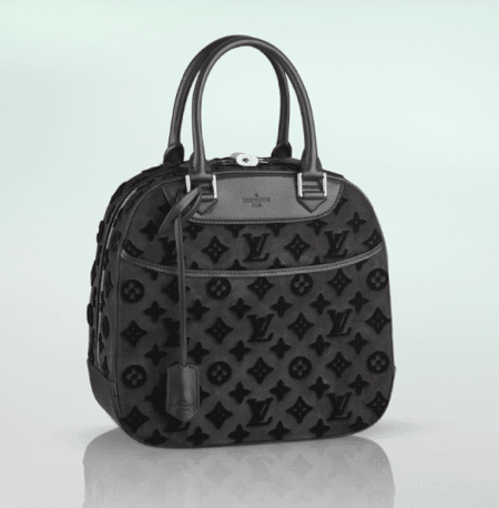 8fd53147fe4c Louis Vuitton Black Suede Tuffetage Deauville Bag