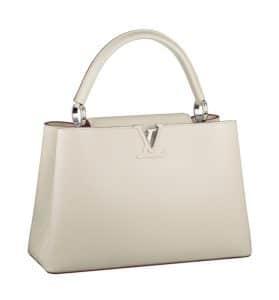 Louis Vuitton Blanc Capucines MM Bag