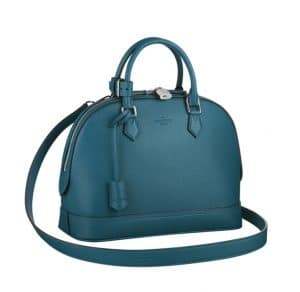 Louis Vuitton Bleu Canard Alma PM Taurillon Bag