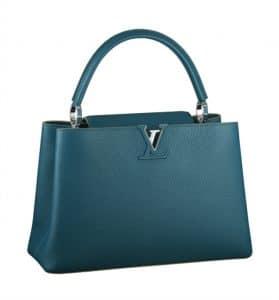 Louis Vuitton Bleu Canard Capucines MM Bag