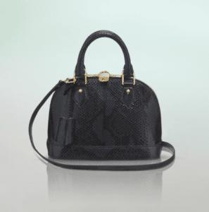 Louis Vuitton Bleu Marine Python Alma BB Bag