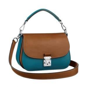 Louis Vuitton Bleu/Tan Vivienne S-Lock Bag
