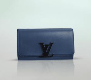 Louis Vuitton Blue Calfskin Louise Clutch Bag