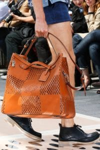 Louis Vuitton Brown Perforated Tote Bag - Spring 2014