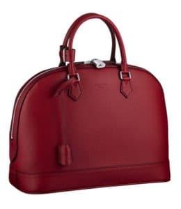 Louis Vuitton Cherry Alma MM Taurillon Bag