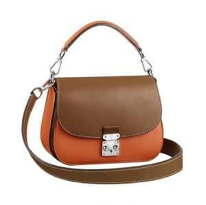 Louis Vuitton Clementine/Tan Vivienne S-Lock Bag