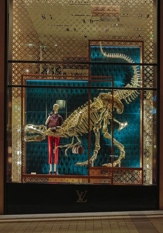 Dinosaurs Take The Louis Vuitton Maison in Paris