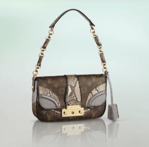 Louis Vuitton Gris Python/Alligator Monogramissime Pochette Bag