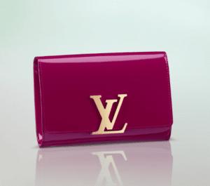 Louis Vuitton Indian Rose Patent Louise Clutch Bag