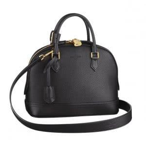 Louis Vuitton Noir Alma PPM Taurillon Bag
