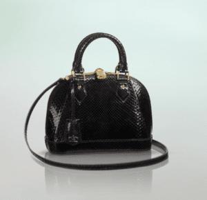 Louis Vuitton Noir Python Alma BB Bag