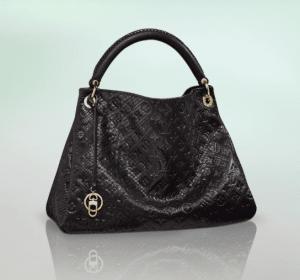 Louis Vuitton Noir Python Artsy MM Bag