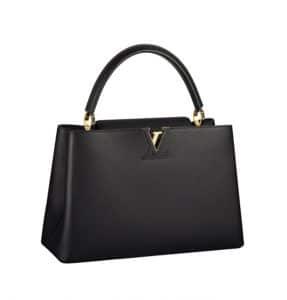 Louis Vuitton Noir Capucines GM Bag