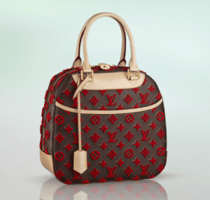 Louis Vuitton Red Monogram Canvas Tuffetage Deauville Bag