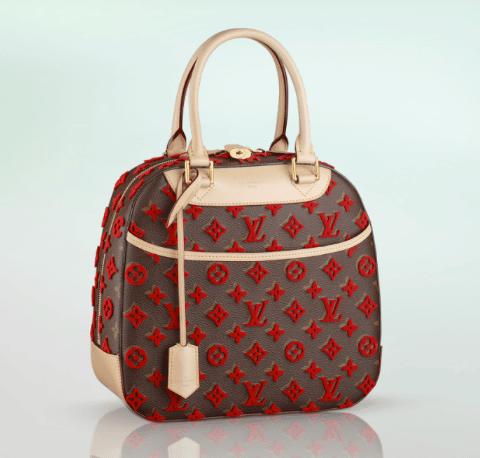 0ba9392fc059 Louis Vuitton Red Monogram Canvas Tuffetage Deauville Bag