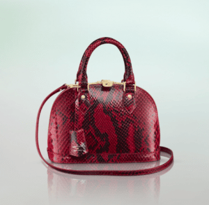Louis Vuitton Rouge Python Alma BB Bag