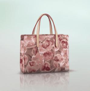 Louis Vuitton Suede Rose Monogram Vernis Ikat Catalina BB Bag