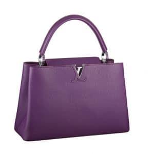 Louis Vuitton Violet Capucines MM Bag