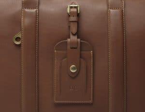 Mulberry Brown Matthew 24 Hour Bag - David Cameron Luggage Tag