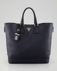 Prada Baltico Snap-Top Tote Bag