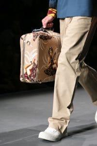 Prada Beige Printed Luggage Bag - Spring 2014